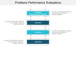 Problems Performance Evaluations Ppt Powerpoint Presentation File Format Ideas Cpb