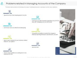 Problems Related In Managing Accounts Of The Company Analysis Ppt Powerpoint Presentation Skills