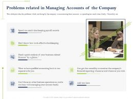Problems Related In Managing Accounts Of The Company Payroll Ppt Presentation Model