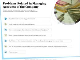 Problems Related In Managing Accounts Of The Company Too Ppt Powerpoint Presentation Gallery Aids