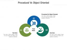 Procedural Vs Object Oriented Ppt Powerpoint Presentation Layouts Background Cpb
