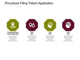 Procedure Filing Patent Application Ppt Powerpoint Presentation Infographics Templates Cpb