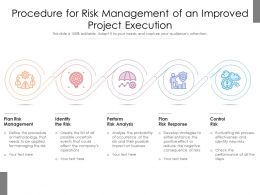 Procedure For Risk Management Of An Improved Project Execution
