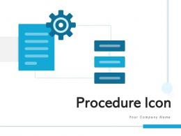 Procedure Icon Processing Business Marketing Products Flowchart Development