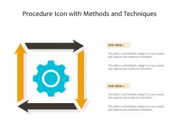 Procedure Icon With Methods And Techniques