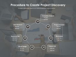 Procedure To Create Project Discovery