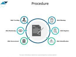 Procedure Tracking Checklist Ppt Powerpoint Presentation Portfolio Example