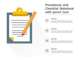 Procedures And Checklist Notebook With Pencil Icon