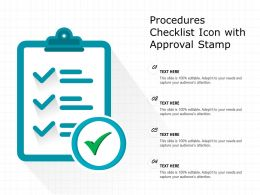 Procedures Checklist Icon With Approval Stamp