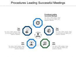 Procedures Leading Successful Meetings Ppt Powerpoint Presentation Professional Files Cpb