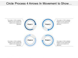 Process 4 Arrows In Movement To Show Process Flow That Show Interconnectedness Of Categories