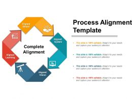 Process Alignment Template Powerpoint Shapes