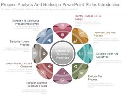 Process Analysis And Redesign Powerpoint Slides Introduction