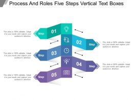 Process And Roles Five Steps Vertical Text Boxes