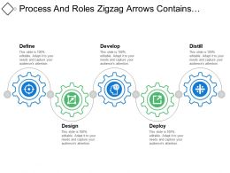 Process And Roles Zigzag Arrows Contains Designing And Deployment