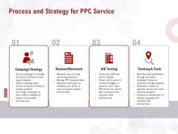 Process And Strategy For PPC Service Ppt Powerpoint Presentation Model