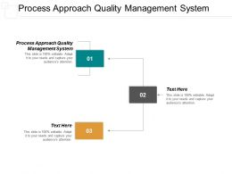 Process Approach Quality Management System Ppt Powerpoint Presentation Portfolio Visuals Cpb