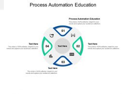 Process Automation Education Ppt Powerpoint Presentation Summary Icon Cpb