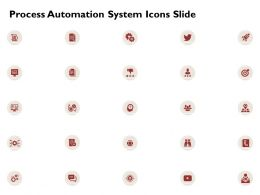 Process Automation System Icons Slide Ppt Powerpoint Presentation Icon Slides
