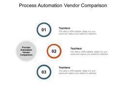 Process Automation Vendor Comparison Ppt Powerpoint Presentation Skills Cpb