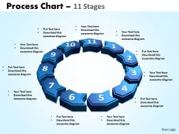 process chart 11 stages powerpoint slides and ppt templates 0412