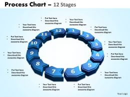 process chart 12 stages powerpoint slides and ppt templates 0412
