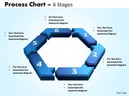process chart 6 stages powerpoint slides and ppt templates 0412