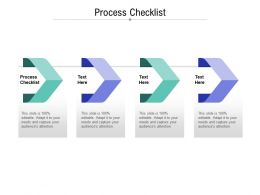 Process Checklist Ppt Powerpoint Presentation Infographic Template Outline Cpb