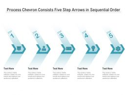 Process Chevron Consists Five Step Arrows In Sequential Order