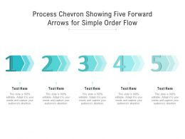 Process Chevron Showing Five Forward Arrows For Simple Order Flow