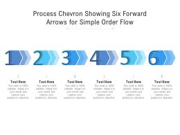 Process Chevron Showing Six Forward Arrows For Simple Order Flow