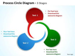 Process Circle Diagram 3 Stages 30