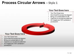 Process Circular Arrows 1 Powerpoint Presentation Slides