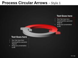 Process Circular Arrows 1 Powerpoint Presentation Slides DB