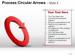 Process Circular Arrows 2 Powerpoint Presentation Slides
