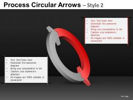 Process Circular Arrows 2 Powerpoint Presentation Slides DB