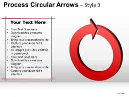 Process Circular Arrows 3 Powerpoint Presentation Slides