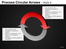 Process Circular Arrows 3 Powerpoint Presentation Slides DB