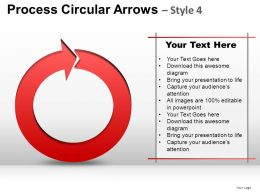 Process Circular Arrows 4 Powerpoint Presentation Slides