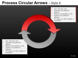 Process Circular Arrows 4 Powerpoint Presentation Slides DB