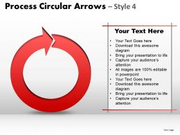 Process Circular Arrows Style 4 PPT 1