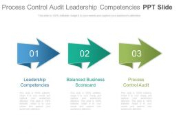 Process Control Audit Leadership Competencies Ppt Slide