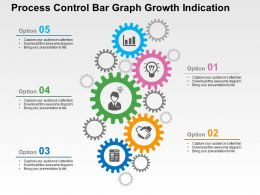 Process Control Bar Graph Growth Indication Flat Powerpoint Design
