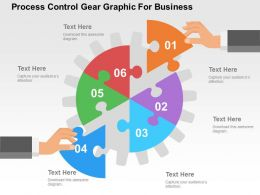 Process Control Gear Graphic For Business Flat Powerpoint Design