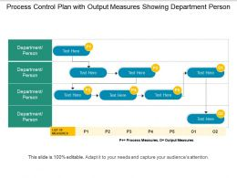 Process Control Plan With Output Measures Showing Department Person