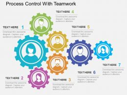Process Control With Teamwork Flat Powerpoint Design