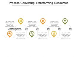 Process Converting Transforming Resources Ppt Powerpoint Presentation Show Inspiration Cpb