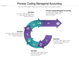 Process Costing Managerial Accounting Ppt Powerpoint Presentation Portfolio Good Cpb