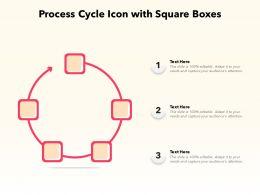Process Cycle Icon With Square Boxes