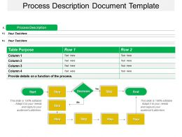 Process Description Document Template Powerpoint Slide